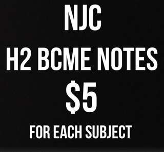 NJC H2 BCME notes (new syllabus)