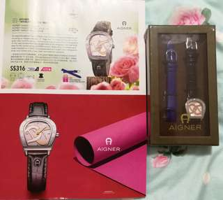 NEW 'AIGNER' ladies watch come in 2 leather strap