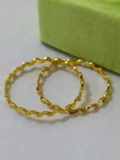 (Authentic New 916) Cincin Zigzag