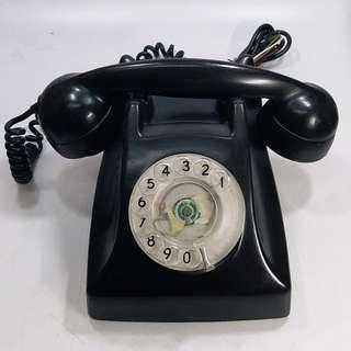 70年代  香港電話公司  電木膠外壳攪盤電話(包好壞)