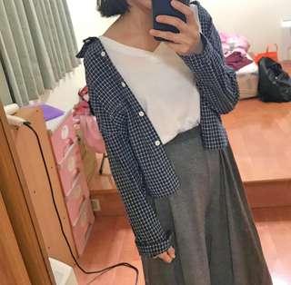 🚚 藍色格紋襯衫