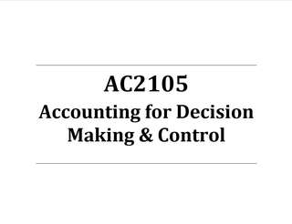AC2105 Accounting for Decision Making & Control Bible