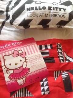 Baby Comforter W/ Pillow -Hello kitty