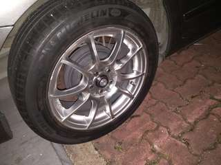 "16"" rims with Michelin tyres"