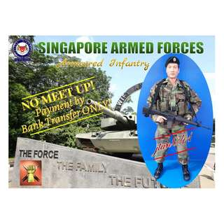 Customisation of 1:6 scale SINGAPORE ARMED FORCES – Singapore Armoured Regiment, Armoured Infantry (Woodland Camouflage). *NOT included in the 15% storewide sales.