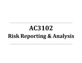 AC3102 Risk Reporting & Analysis