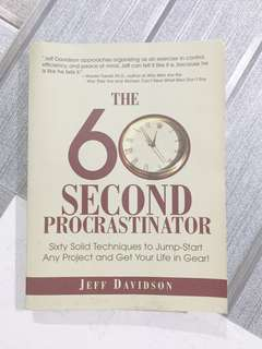 The 60 Second Procrastinator book by Jeff Davidson