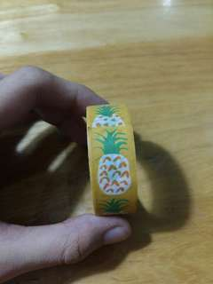 Used pineapple washi tape roll