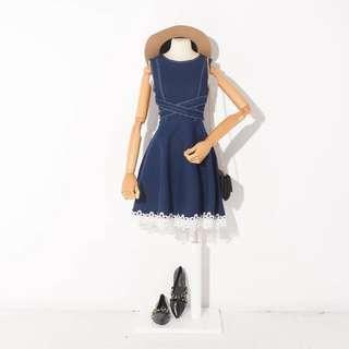 <INSTOCKS> Lace Denim Dress