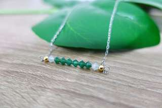 Handmade Minimalist Beaded Crystal Necklace