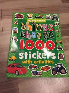 Things that go - 1000 stickers with activities