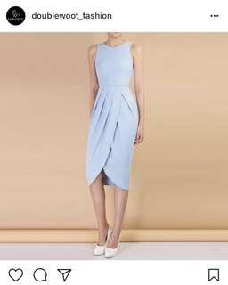 Double-woot pale blue dress