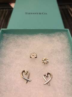 Tiffany Earrings 100% real with receipt original price $2600