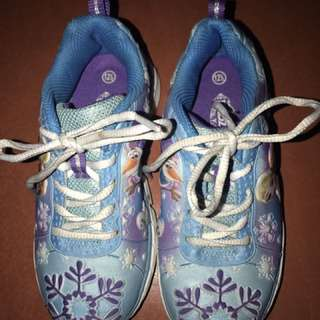 Frozen kids rubber shoes
