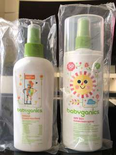 Babyganics sunscreen spray & insect repellent