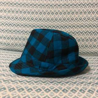 Blue Checkered Fedora
