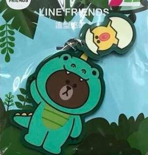 LINE FRIENDS 造型悠遊卡 DINO brown 熊大 莎莉