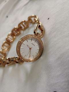 Preloved Fossil Women's Watch Rose Gold