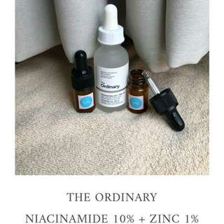 The Ordinary Niacinamide 10% + Zinc 1% share in jar 5ml