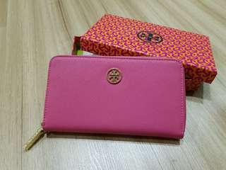Used Inspired Tory burch pink long wallet