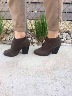 Call It Spring Brown Ankle Boot Heels