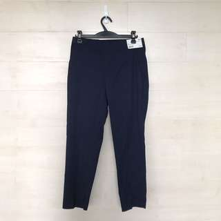 Uniqlo Navy Ankle Length Trousers