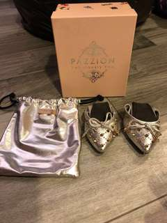 Pazzion Silver Ballet Shoes Girl