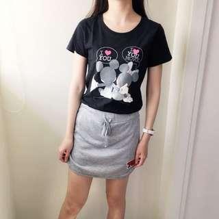 🚚 灰色運動風褲裙