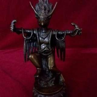 藏传佛教的珍藏 - 金翅鸟铜塑像 ( 迦陵频伽 )