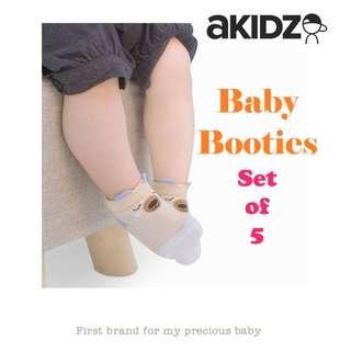 Baby Booties - Set of 5