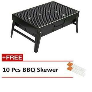 BBQ Grill Set + Free 10 Pcs BBQ Skewer