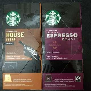 (((只剩espresso roast House blend已售罄))) starbucks capsule  星巴克咖啡膠囊 nespresso機可用