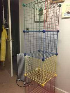 Colourful Wire Shelf