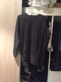 Oversized Dark Grey Jumper