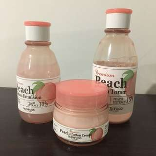 SKINFOOD peach skincare bundle