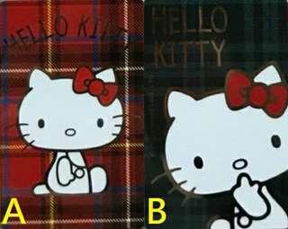 HELLO KITTY 悠遊卡 格紋紅、格紋綠 兩款可挑