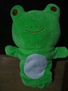 Stuffed toys puppet frog