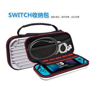 全新 Nintendo switch PPB硬包 配件主機包 收納包 銀灰色 保護包