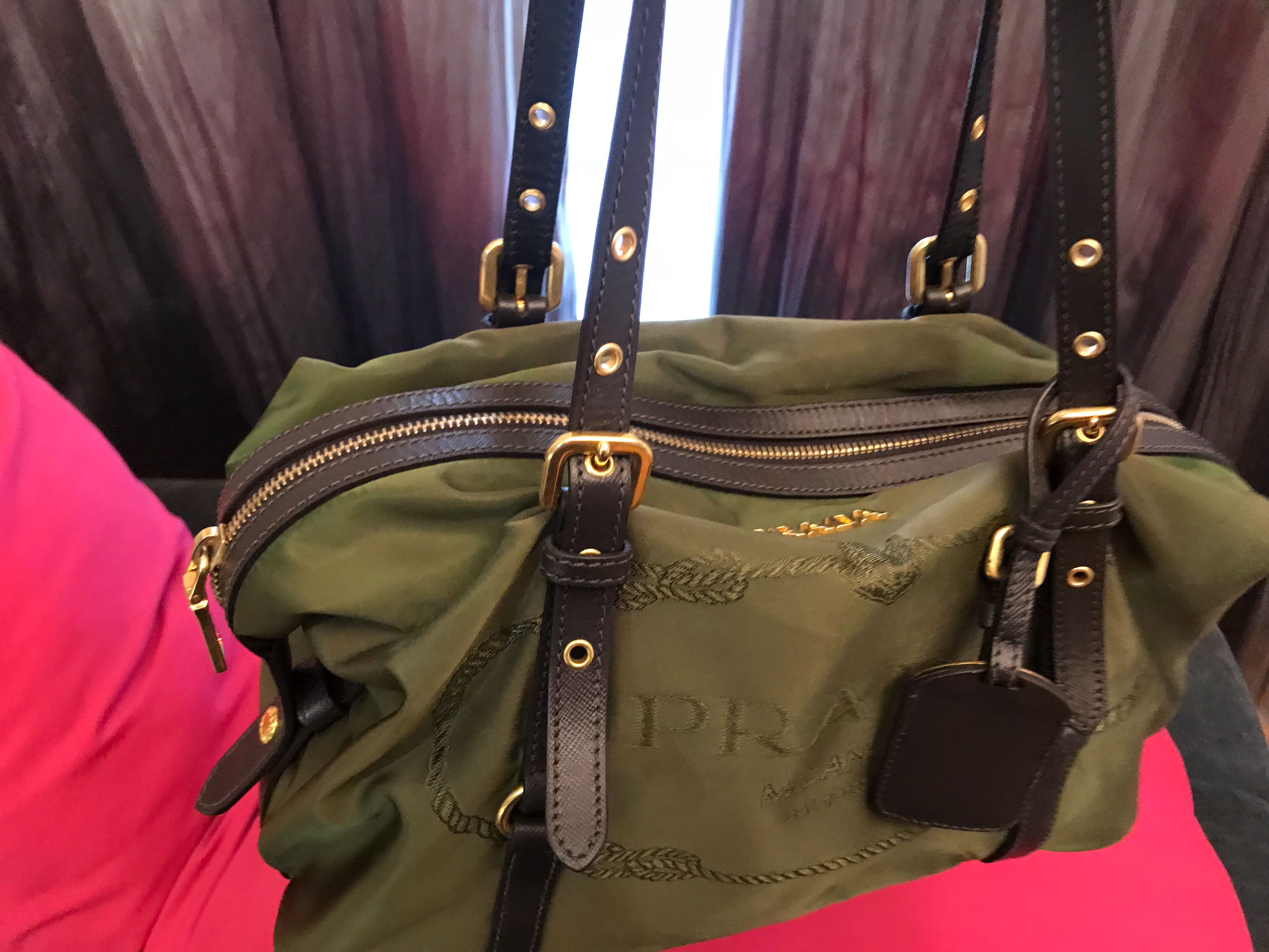 51f4084e00bb Authentic Prada Shoulder Bag (olive green)