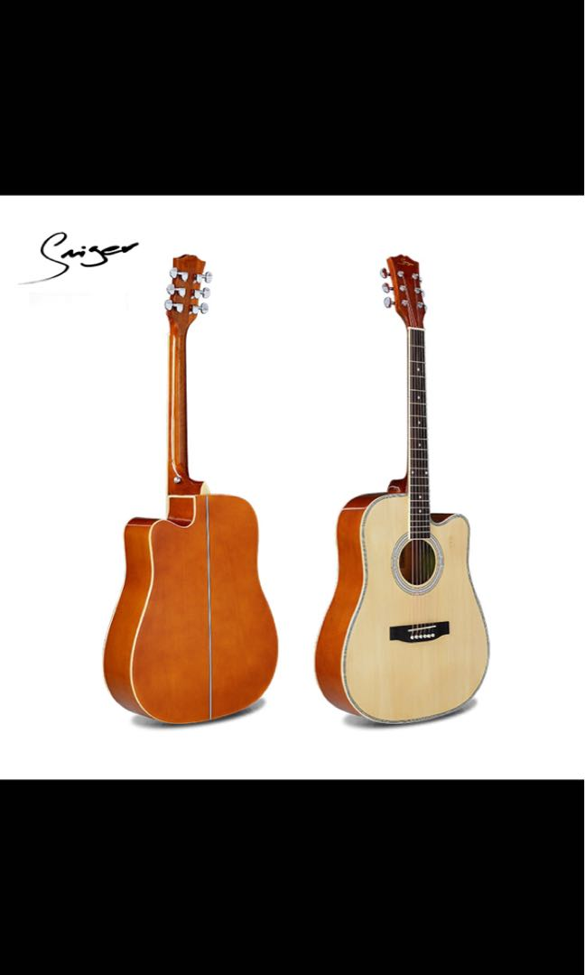 Acoustic Guitar Wood Color Music Media Music Instruments On