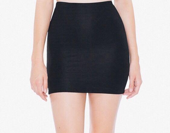 abb0c56b5 American Apparel Ponte Mini Skirt in Black, Women's Fashion, Clothes ...