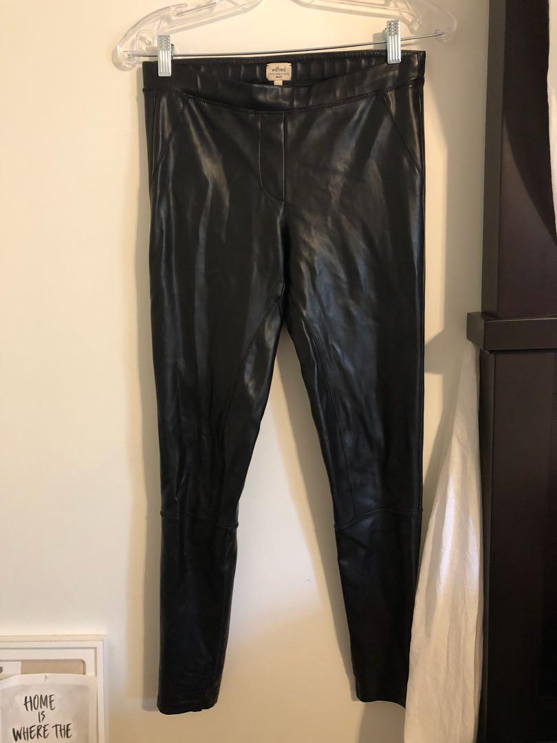 Aritzia leather leggings