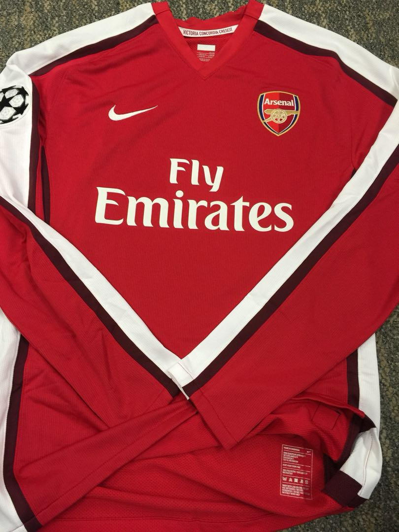 3ced0dc82 Authentic Nike Arsenal Player Issue Champions League Jersey Fabregas ...