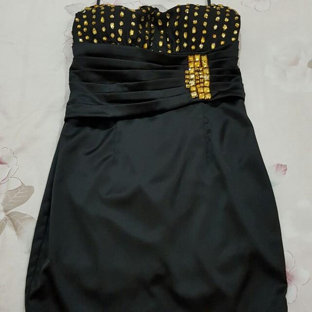 Baju pesta mini dress Kemben