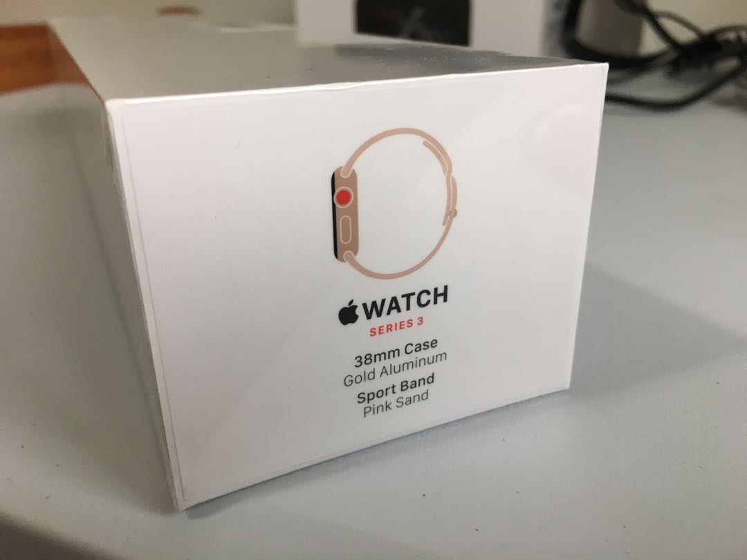 Brand New Sealed Apple Watch Series 3 Gold Aluminium Case With