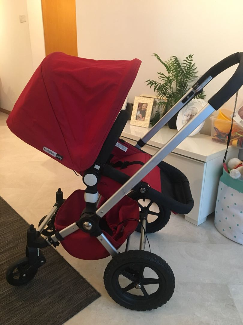 Hedendaags Bugaboo Frog (red) with bassinet and chair, Babies & Kids JP-27