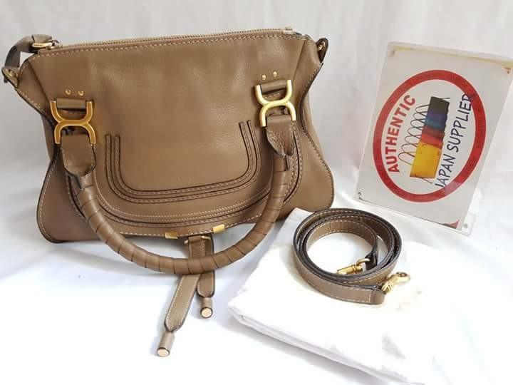 99052d023f chloe marcie medium brown 2way, Women's Fashion, Bags & Wallets on ...