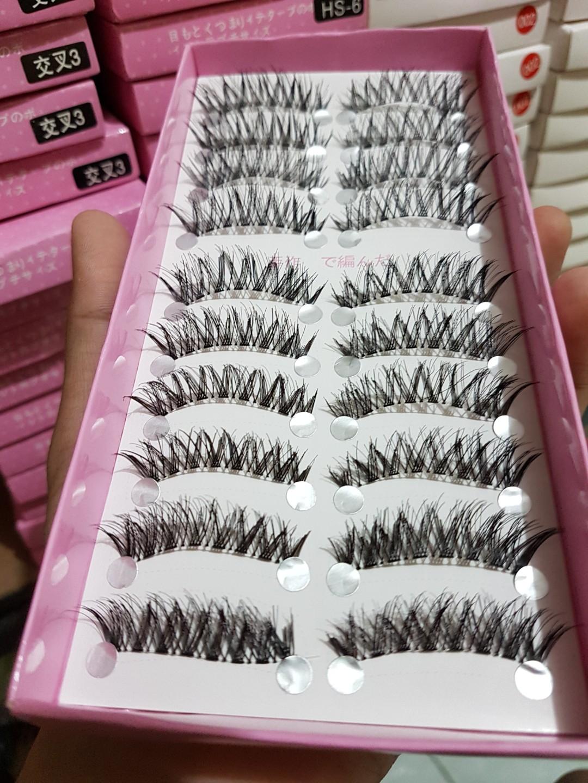 Eyelash Bulu Mata Palsu Import Taiwan Cocotina Yang Tebal Dan Panjang Set 20 Hitam 10 Pasang