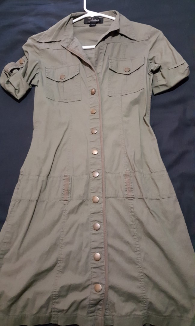 Green military dress