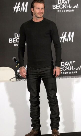 H&M tapered jeans(David beckham series)